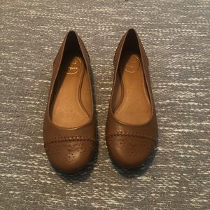 Jack Rogers Brown Leather Flats